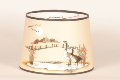 "Parchment  Aladdin Oil Lamp Shade -  Chimney Mount  ""Canada Goose"""