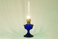 ALEXANDRIA Aladdin Oil  Lamp ** COBALT BLUE Glass **  Brass hardware (Lamp Only - no shade)  **