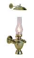 Atlantic Gimbal 718 Brass Oil Lamp with Smoke Bell  **(weems & Plath)