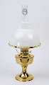 "Aladdin Brass Table Lamp  with Opal 10"" glass Shade"