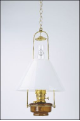 "** Brown Translucent Classic Tilt Frame  Aladdin Oil / Kerosene Lamp with 14"" Opal Slant Glass Shade**"