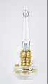 BW170 Clear Aladdin Mantle Oil / kerosene Wall Bracket Lamp (CLASSIC BRASS bracket)