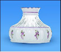 "Classic Aladdin Oil Lamp Glass Shade 10"" Crystal Amethyst (purple flowers) Freesia"