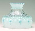"Classic Aladdin Oil Lamp Glass Shade 10"" Crystal Blue Meadow"