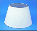 "Cloth & Parchment  Aladdin Oil Lamp Shade 14"" ""White Pleated"""