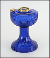 Cobalt Lincoln Drape Aladdin Oil Lamp  FONT ONLY , Brass (USA)
