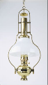 "Deluxe Aladdin Mantle Oil / Kerosene Lamp - Brass Frame with 12"" Glass  White Opal Bell Shade  ****"