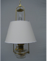 "Clear Classic Tilt Frame Aladdin Oil Lamp w/14"" white parchment Shade"