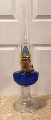 Aladdin Lincoln Drape Cobalt Blue over Clear Oil / Kerosene Lamp ** Being Retired **