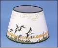 "Parchment Aladdin Oil Lamp Shade 14""  Flying Ducks"""