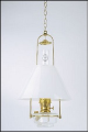 "Clear Classic Tilt Frame Hanging Aladdin Oil / Kerosene Lamp with 14"" Opal Slant Glass Shade** (SKU: BH715-716)"