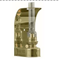 DHR Wall Lamp (8807) - Brass Oil Lamp  **  (weems & Plath) (SKU: 8807 ** Back Ordered **)