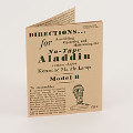 Manual for Model  B Lamp **  Instruction Booklet  ***** reprint of original****