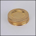 Fuel Filler Cap n120b for Glass Aladdin Oil Lamps, Brass with sealing cork