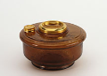 Aladdin Oil Lamp Bowl (Font)  - Brown Translucent  - Genie III Brass