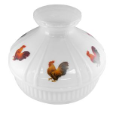 "Rooster Opal 10"" Aladdin Model 12 Glass Lamp Shade (SKU: Rooster 100022070)"