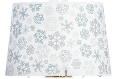 "12"" Snowflake Parchment Aladdin Oil Lamp Shade (SKU: Silvery Snowflake 100021647)"