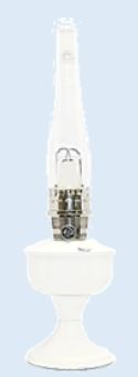 Wedding White Aluminum  Powder coated BRASS or NICKEL Aladdin Table Lamp ** Limited Supply **