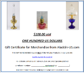 GIFT CERTIFICATE  $100.00 USD