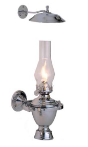 Chrome Atlantic Gimbal Oil  Lamp w/Smoke Bell  **  (weems & Plath)