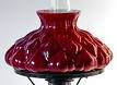 Ruby Red Artichoke Aladdin Oil Lamp Shade  *