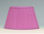 "Cloth & Parchment Aladdin Oil Lamp Shade 14""  ""Pink Pleated"" *** Being RETIRED Limited supply ***"
