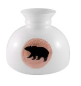 "Bear Cabin Series Student  10"" Aladdin Glass Shade"