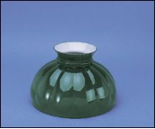 "Classic Aladdin Oil Lamp Glass Shade 10"" Styles ""Green Melon"""
