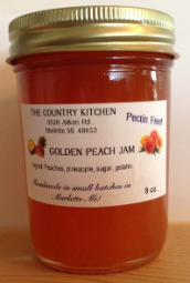 "Amish Golden Peach Jam 8oz "" Pectin FREE""  The Country Kitchen"