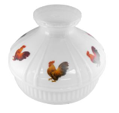 "Rooster Opal 10"" Aladdin Model 12 Glass Lamp Shade"