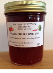 Amish Strawberry Rhubarb Jam 8oz by The Country Kitchen