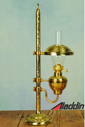 Aladdin® Brass Student FLAT WICK Oil Lamp ***NON-MANTLE***