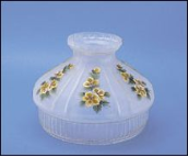 "** BACK ORDERED ** Classic Aladdin Oil Lamp Glass Shade 10"" Satin Finish Clear Skirt "" Buttercups"""