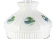 "Beach Paradise 10"" Aladdin Model 12 Glass Lamp Shade"