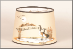 "*** LAST ONE *** Parchment  Aladdin Oil Lamp Shade -  Chimney Mount  ""Canada Goose"""