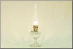 Alexandria Clear Glass Table Lamp (Nickel)