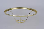 "401 RB Shade Ring Fits ALL 10"" Aladdin Shades (BRASS)"