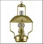 Clipper Brass Lamp - Oil  ** DHR **  (Weems & Plath)