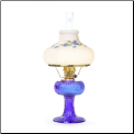 "Grand Vertique Lamp Cobalt Blue ""BRASS or NICKEL"" SET with painted shade (Limited Edition) (SKU: **** GRAND Vertique Cobalt Blue ****)"