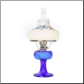 "Grand Vertique Lamp Cobalt Blue ""BRASS or NICKEL"" SET with painted shade (Limited Edition) (SKU: **** GRAND Vertique ****)"