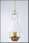 "Brown Translucent Classic Tilt Frame  Aladdin Oil / Kerosene Lamp with 14"" Opal Slant Glass Shade**"