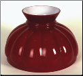 "Classic Aladdin Oil Lamp  Glass Shade 10"" Styles ""RED  Melon"" Hand Blown Glass. (SKU: M571)"