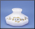 "Classic Aladdin Oil Lamp Glass Shade 10"" Styles ""9 Panel Morning Glory"" (SKU: M741)"