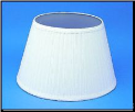 "Cloth & Parchment  Aladdin Oil Lamp Shade 14"" ""White Pleated"" (SKU: N110W)"