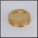 Fuel Filler Cap for Glass Aladdin Oil Lamps, Brass with sealing cork (SKU: N120B)