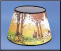 "Parchment Aladdin Oil Lamp Shade 14"" Decorated ""Fox and Hounds"" Being RETIRED  **Limited Supply ** (SKU: N399)"