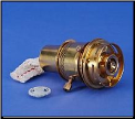 "#32 Brass oil Burner (Refrigeration)  with 1/2"" Round Wick (Nickel) (SKU: P990001)"