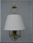"Clear Classic Tilt Frame Aladdin Oil Lamp w/14"" white parchment Shade ** Shade Limited Supply **"