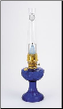 C6177 Cobalt (Blue) Lincoln Drape MAXbrite 500  Aladdin Mantle Oil /Kerosene Table  Lamp - Brass (USA) (SKU: C6177)
