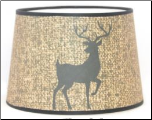 "NEW Parchment Aladdin Oil Lamp Shade 12"" ""DEER Silhouette Parchment"" *** Made in the USA ***"